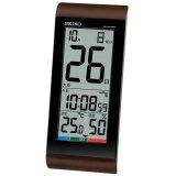 大きな日付表示でギフトに好適な日めくりタイプのデジタル電波時計 ブラウン