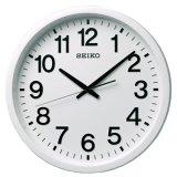 シンプルなデザイン見やすい文字盤の掛け時計。衛星電波掛時計