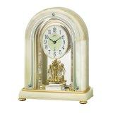 オニキス天然石高級置き時計(電波クロック)