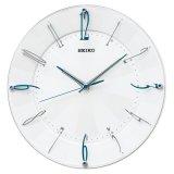 モダンで上質な空間にマッチするインテリア掛時計(ブルー)