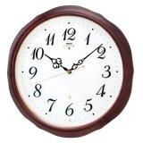 優しい木枠と気品を感じさせるデザイン掛け時計/電波クロック