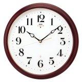 気品を感じさせる小ぶりなデザイン掛け時計/電波クロック