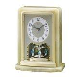 オニキス枠の高級置き時計。ご贈答品、記念品に最適な置時計