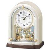 クリスタルの優雅な置き時計(ホワイト色)