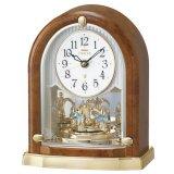 クリスタルの優雅な置き時計(茶色)