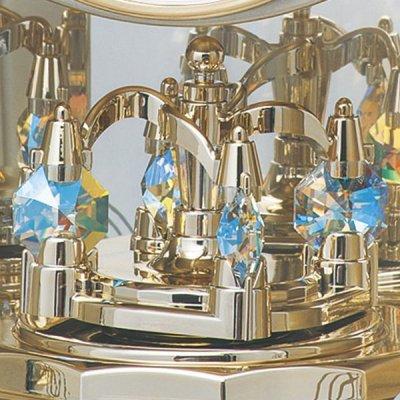 画像2: クリスタルの優雅な置き時計(ホワイト色)