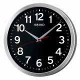 ブラック文字盤のベーシックなデザイン掛け時計