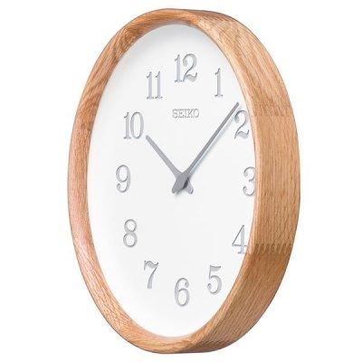 画像2: 木の温もりを感じるこだわりのインテリア掛け時計(オーク材)