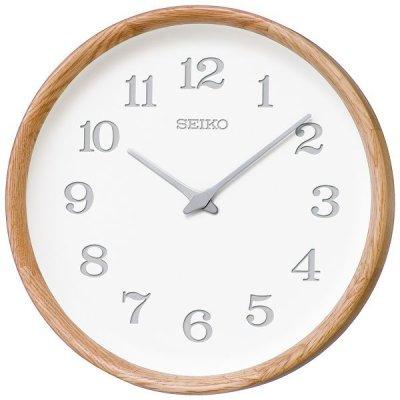 画像1: 木の温もりを感じるこだわりのインテリア掛け時計(オーク材)
