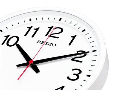 画像2: どこから見ても見やすい 「教室の時計」電波クロック