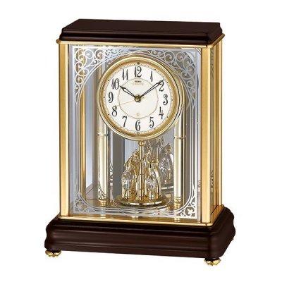 画像1: アールヌーボー調の唐草がガラスに煌めくモダンな高級置時計