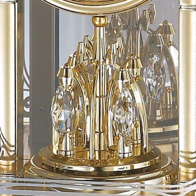 画像3: アールヌーボー調の唐草がガラスに煌めくモダンな高級置時計
