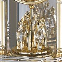 商品詳細1: アールヌーボー調の唐草がガラスに煌めくモダンな高級置時計