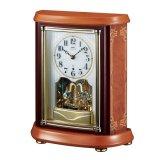 木象嵌の華麗な上質なデザイン置時計