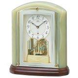 重厚な風格のある(オニキス)デザイン置時計