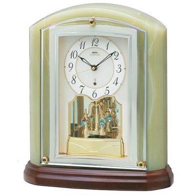 画像1: 重厚な風格のある(オニキス)デザイン置時計