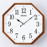 シンプルな木枠が美しいナチュラルテイストの掛時計(パイン材)