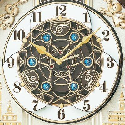 画像2: モダンリビングにマッチするシックなデザインからくり電波時計
