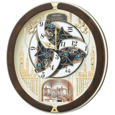 画像3: モダンリビングにマッチするシックなデザインからくり電波時計