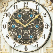 商品詳細1: モダンリビングにマッチするシックなデザインからくり電波時計