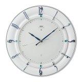 華やかなアクセントとして住空間に映えるモダンデザイン掛け時計(ホワイト)