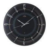 華やかなアクセントとして住空間に映えるモダンデザイン掛け時計(ブラック)
